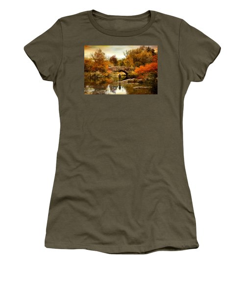 Women's T-Shirt featuring the photograph Fishing At Gapstow by Jessica Jenney