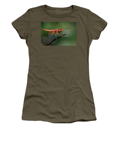 Flame Skimmer Dragonfly Women's T-Shirt (Athletic Fit)