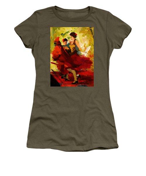 Flamenco Dancer 019 Women's T-Shirt (Athletic Fit)