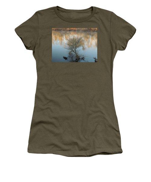 Women's T-Shirt (Junior Cut) featuring the photograph Flint River 24 by Kim Pate