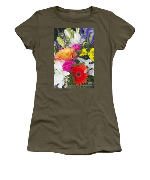 Floral Bouquet Women's T-Shirt (Athletic Fit)