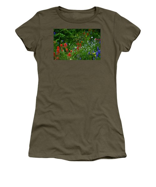 Floral Explosion Women's T-Shirt (Athletic Fit)