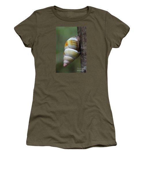 Women's T-Shirt (Junior Cut) featuring the photograph Florida Tree Snail by Paul Rebmann