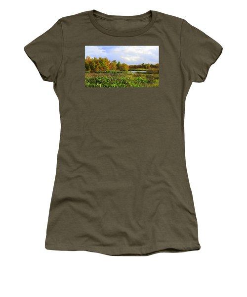 Florida Wetlands August Women's T-Shirt (Junior Cut) by David Mckinney