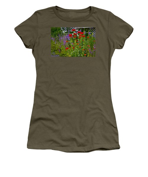 Women's T-Shirt (Junior Cut) featuring the photograph Flower Garden by Johanna Bruwer