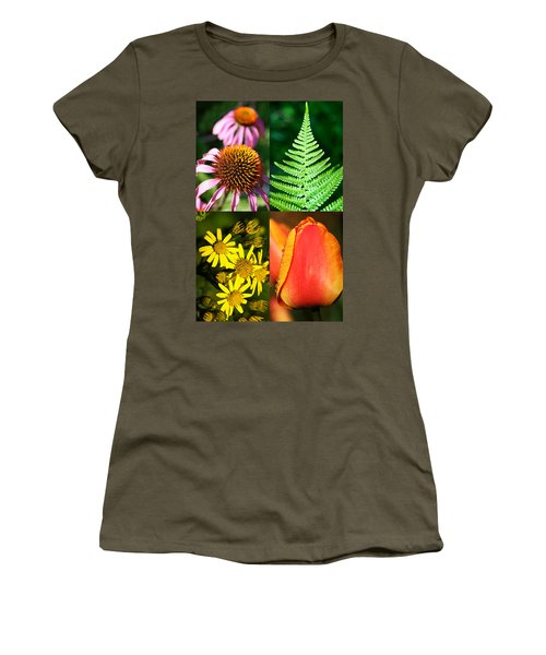 Flower Photo 4 Way Women's T-Shirt (Athletic Fit)