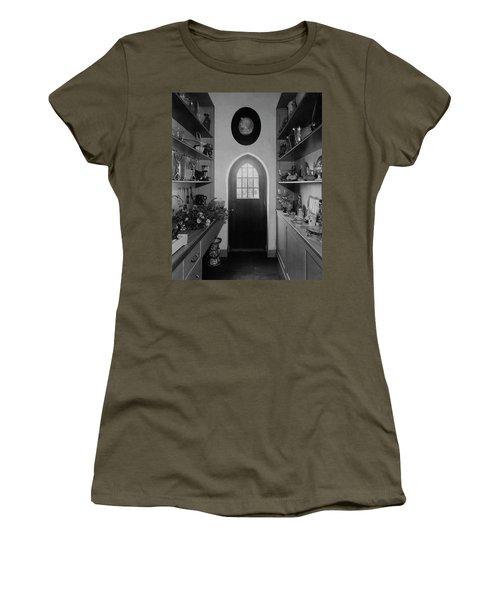 Flower Room In The Home Of Mrs. Charles Wheeler Women's T-Shirt