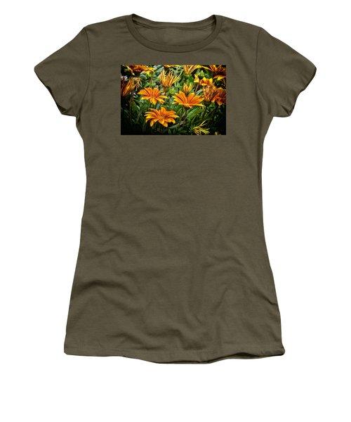 Flower Town Women's T-Shirt (Athletic Fit)