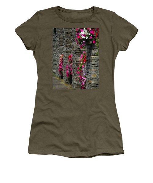 Flowers At Liscannor Rock Shop Women's T-Shirt