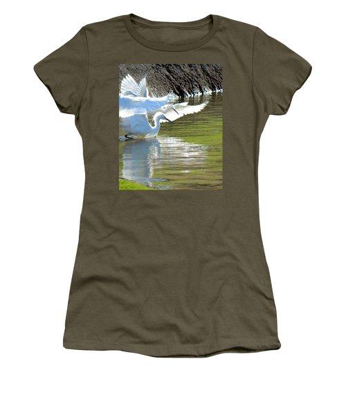 Women's T-Shirt (Junior Cut) featuring the photograph Flurry by Deb Halloran