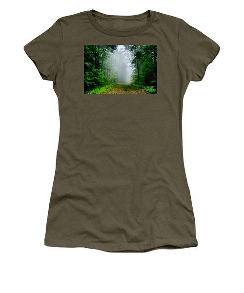 Women's T-Shirt (Junior Cut) featuring the photograph Foggy Morning by Debra Fedchin