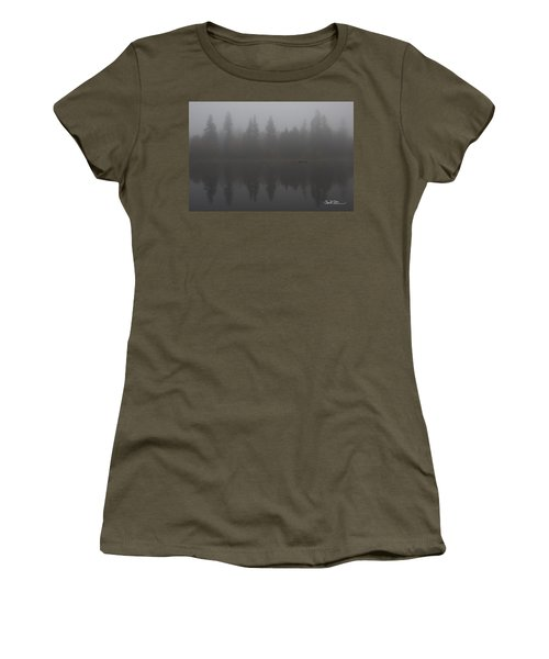 Foggy Morning On The Lake Women's T-Shirt