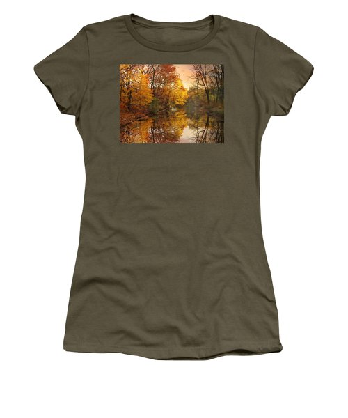 Women's T-Shirt featuring the photograph Foliage Reflected by Jessica Jenney