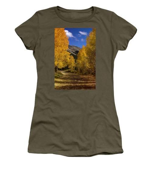 Women's T-Shirt (Junior Cut) featuring the photograph Follow The Gold by Ellen Heaverlo