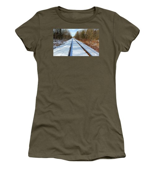 Women's T-Shirt (Junior Cut) featuring the photograph Follow Your Own Path by Debbie Oppermann