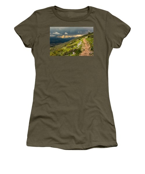 Foot Path Into The French Alps Women's T-Shirt (Athletic Fit)