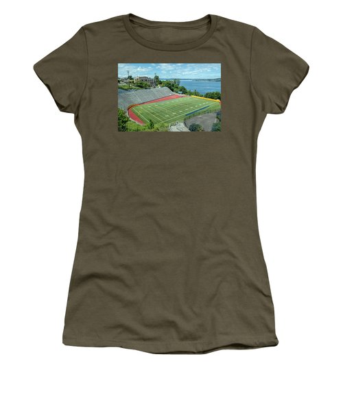 Football Field By The Bay Women's T-Shirt (Athletic Fit)