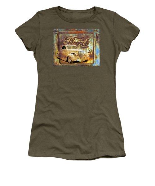 Ford Coupe Rust Women's T-Shirt (Junior Cut) by Steve McKinzie