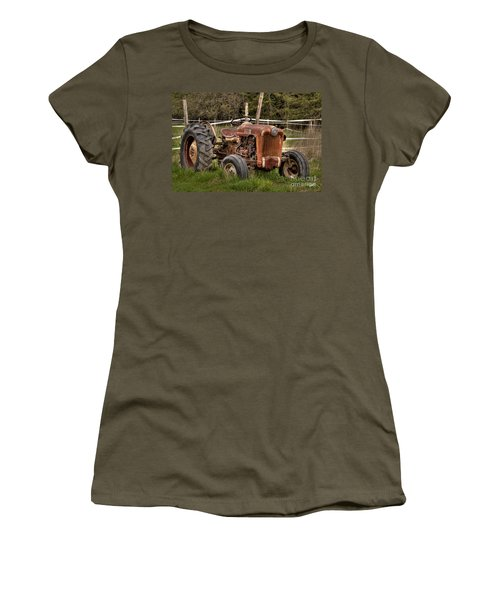 Women's T-Shirt (Junior Cut) featuring the photograph Ford Tractor by Alana Ranney