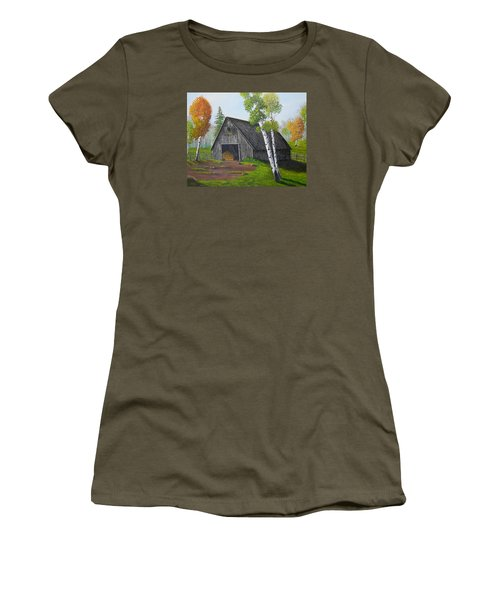 Forest Barn Women's T-Shirt (Junior Cut) by Sheri Keith