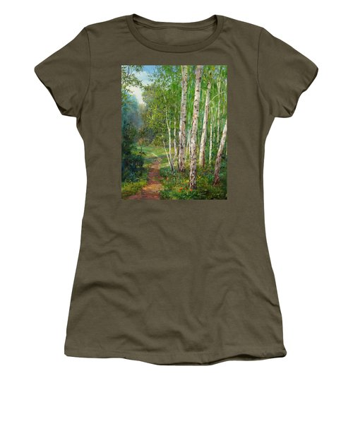 Russian Forest Footpath Women's T-Shirt (Athletic Fit)
