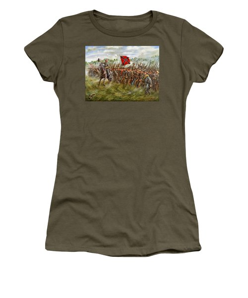 Forward To The Foe - The Charge Of General William Barksdale's Mississippi Brigade At Gettysburg Women's T-Shirt