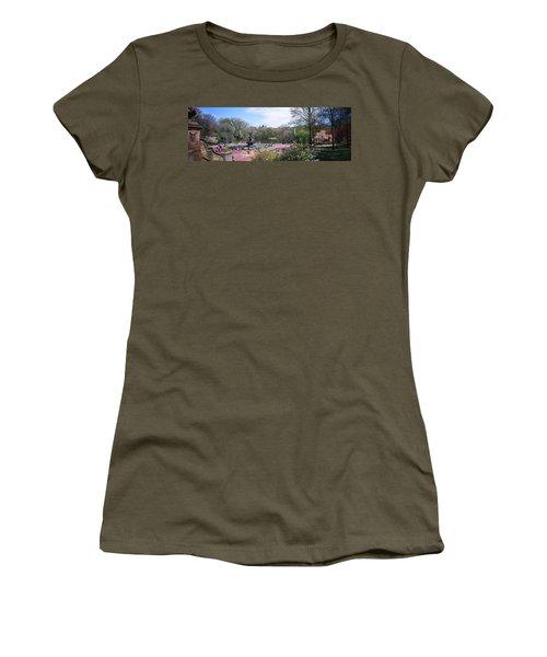 Fountain In A Park, Bethesda Fountain Women's T-Shirt