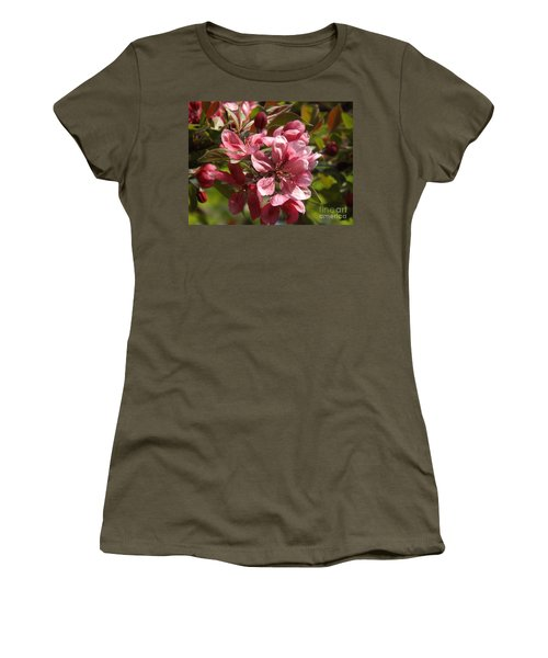 Fragrant Crab Apple Blossoms Women's T-Shirt (Athletic Fit)
