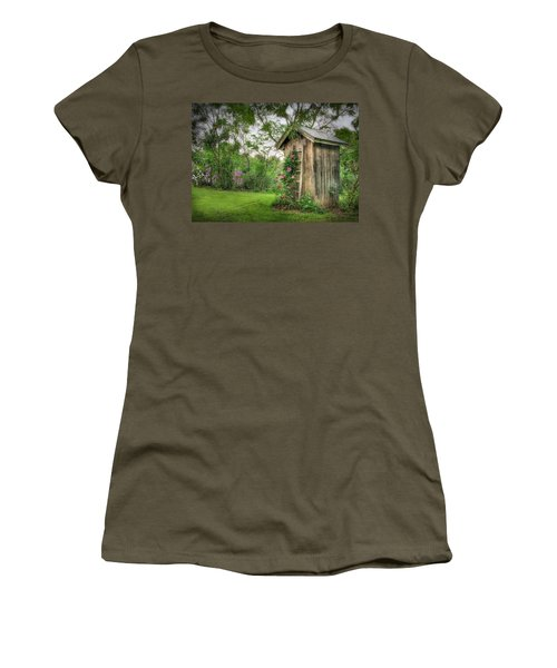 Fragrant Outhouse Women's T-Shirt (Junior Cut) by Lori Deiter