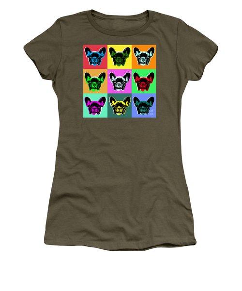 French Bulldog Women's T-Shirt (Junior Cut) by Jean luc Comperat