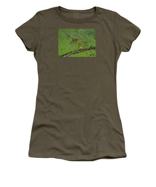 Women's T-Shirt (Junior Cut) featuring the photograph Froggie by Robert Nickologianis