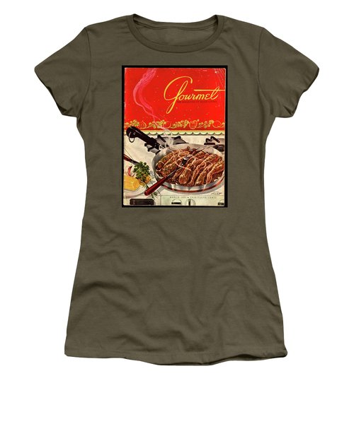 Frogs Legs Frying In A Pan Women's T-Shirt