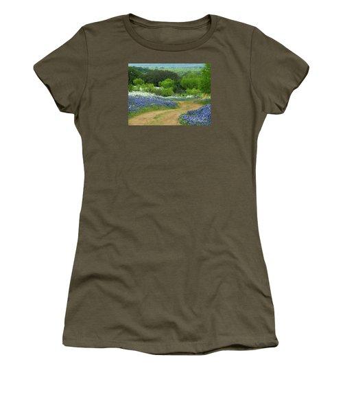 From Here To There Women's T-Shirt (Junior Cut) by Joe Jake Pratt