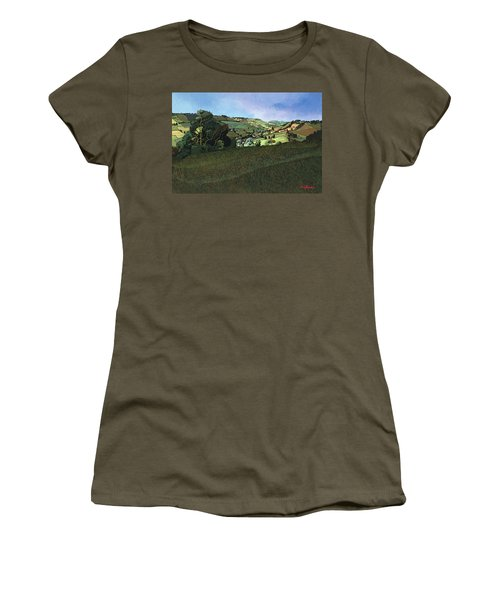 From Solsbury Hill Acrylic On Canvas Women's T-Shirt
