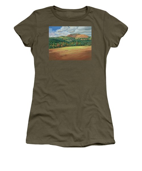 From The Train South Devon, No.2 Oil On Canvas Women's T-Shirt