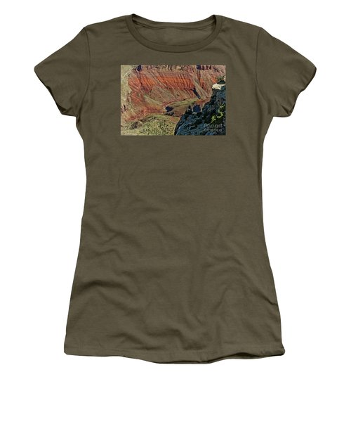 Women's T-Shirt (Junior Cut) featuring the photograph From Yaki Point 5 Grand Canyon by Bob and Nadine Johnston