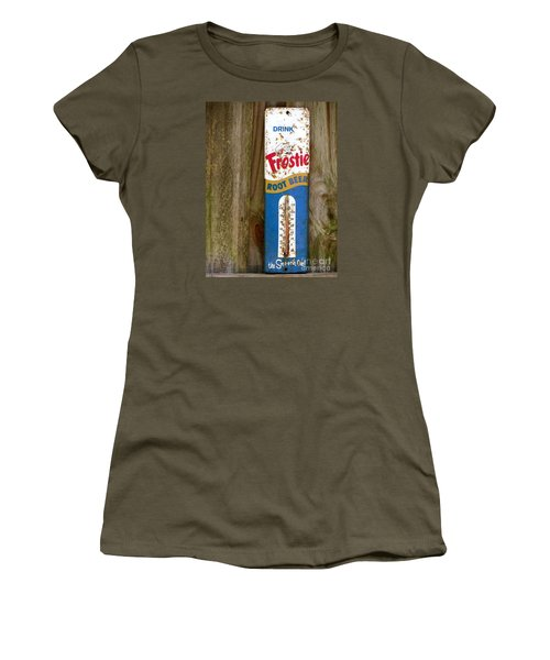 Women's T-Shirt (Junior Cut) featuring the photograph Frostie Root Beer  by Joy Hardee