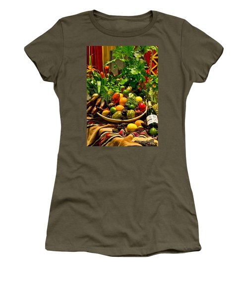 Women's T-Shirt featuring the photograph Fruit And Wine by Mae Wertz