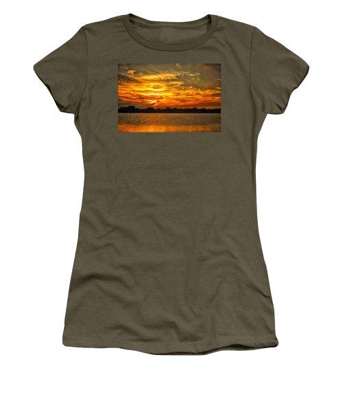 Galveston Island Sunset Dsc02805 Women's T-Shirt (Junior Cut) by Greg Kluempers