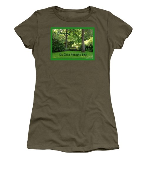 Garden Bench On Saint Patrick's Day Women's T-Shirt (Athletic Fit)