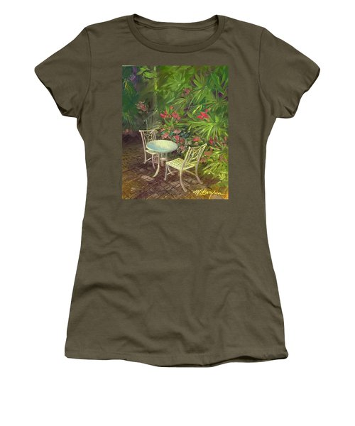 Garden Conversation Women's T-Shirt (Athletic Fit)