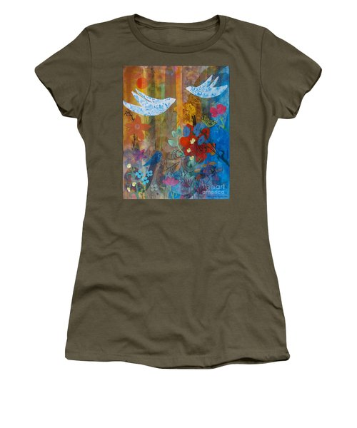 Garden Of Love Women's T-Shirt (Athletic Fit)