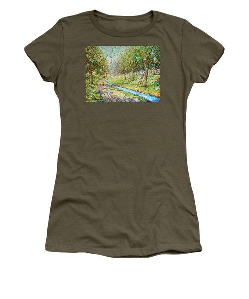 Garden Of Prosperity Women's T-Shirt (Athletic Fit)