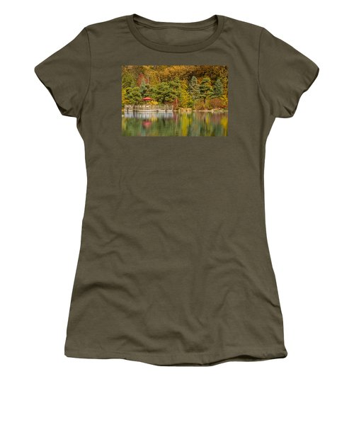 Women's T-Shirt (Junior Cut) featuring the photograph Garden Of Reflection by Sebastian Musial