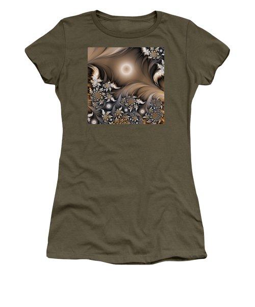 Women's T-Shirt (Junior Cut) featuring the digital art Garden Of The Future by Gabiw Art