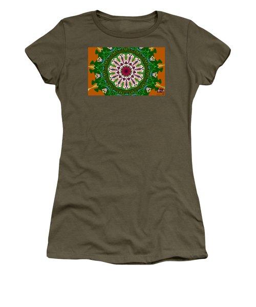 Women's T-Shirt (Junior Cut) featuring the digital art Garden Party #2 by Elizabeth McTaggart