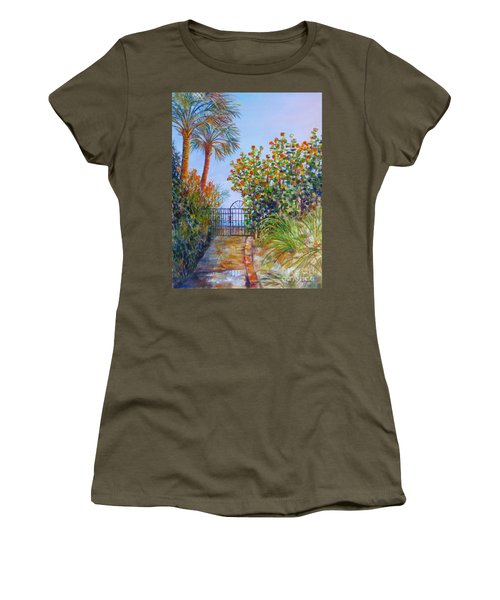Women's T-Shirt (Junior Cut) featuring the painting Gateway To Paradise by Lou Ann Bagnall