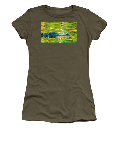 Gator In Pond Women's T-Shirt