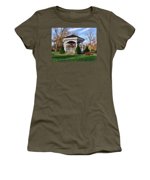 Gazebo At Olmsted Falls - 1 Women's T-Shirt