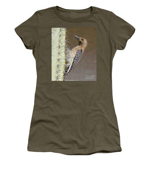 Women's T-Shirt (Junior Cut) featuring the photograph Gila Woodpecker by Deb Halloran